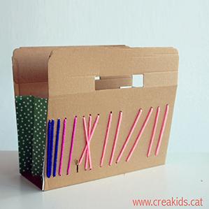 CreaKids: cesto de cartón