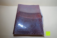 Verpackung: Creoly handgemachtes 'Day Of The Dead' Journal aus geprägtem Leder (15cm x 20cm)