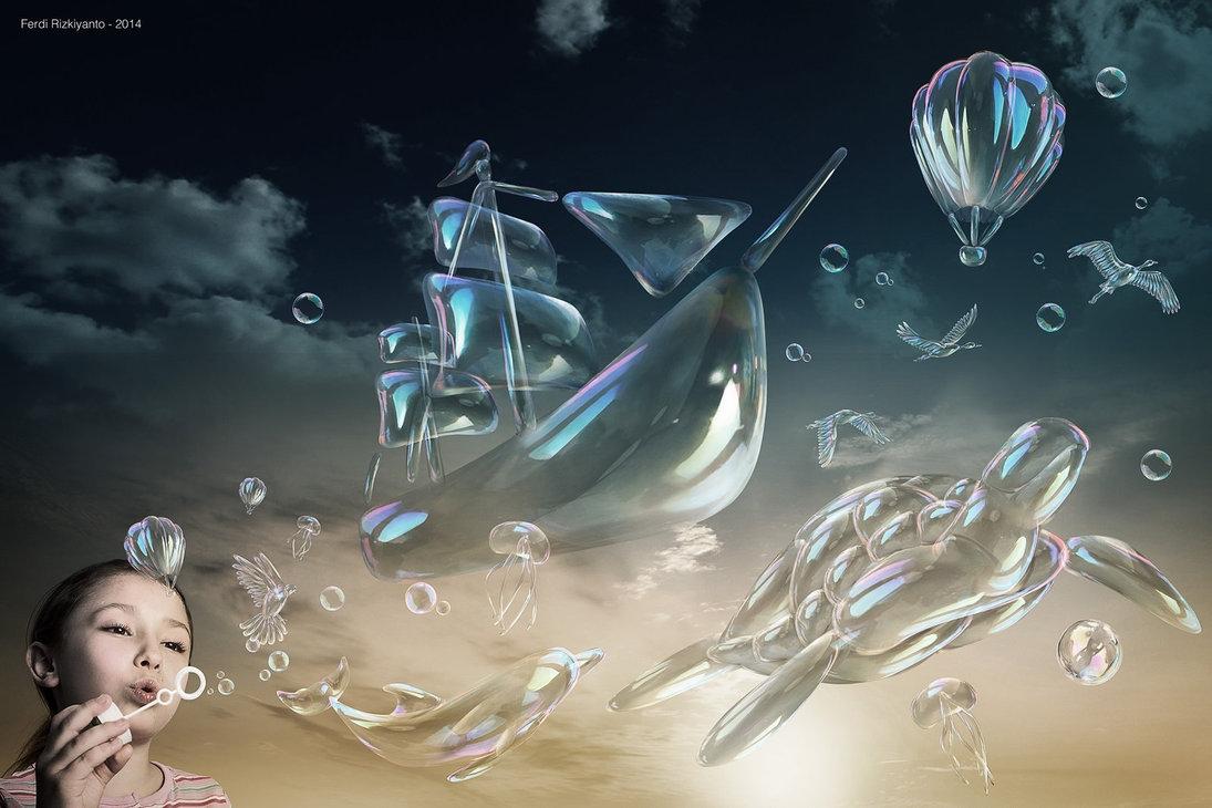 07-Bubbles-Ferdi-Rizkiyanto-Surreal-and-Satirical-Photo-Manipulation-www-designstack-co