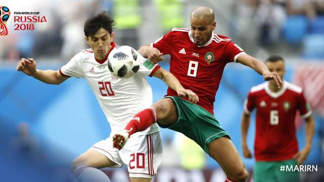 FIFA World Cup 2018- Iran wins Morocco 1-0