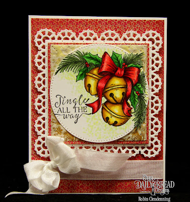 Our Daily Bread Designs Stamp Set: Jingle Bell Time, Our Daily Bread Designs Custom Dies: Pierced Circles, Lacey Layered Squares, Squares, Our Daily Bread Designs Paper Collection: Christmas Card 2015