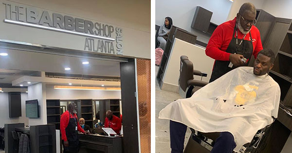Roosevelt Gilbert, owner of first Black-owned barbershop at Atlanta airport