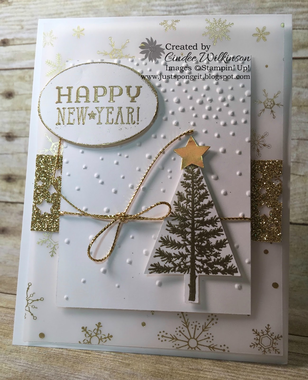 Stampin Up Only Happy New Year Just Sponge It