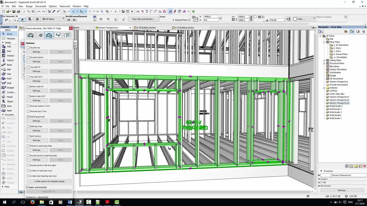 Bộ Cài Archicad 19 Update V9001 và ArchiFrame - Plugin dùng để vẽ
