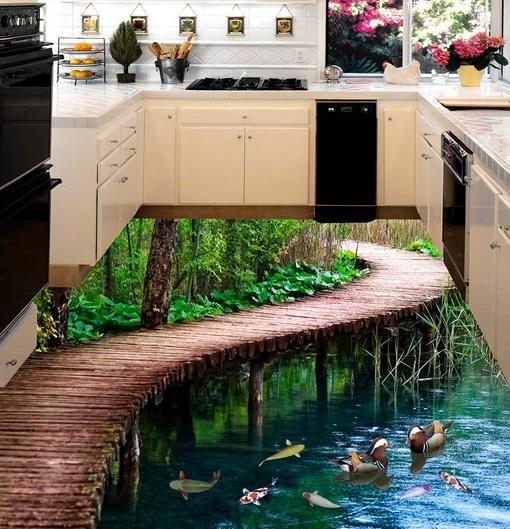 Sàn 3D phong cảnh