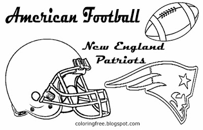 New England Patriots printable AFC American team football coloring page for kids art East USA sports