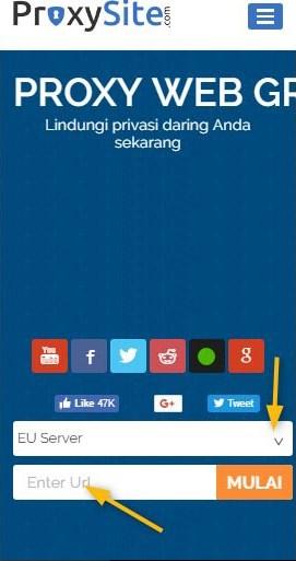 Buka Situs yang Diblok di Android