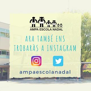 Imatge informativa del nou compte d'Instagram de l'AMPA