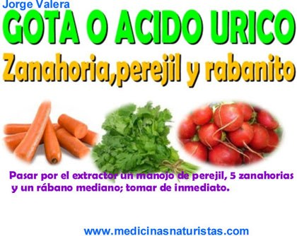 el acido urico medicina natural