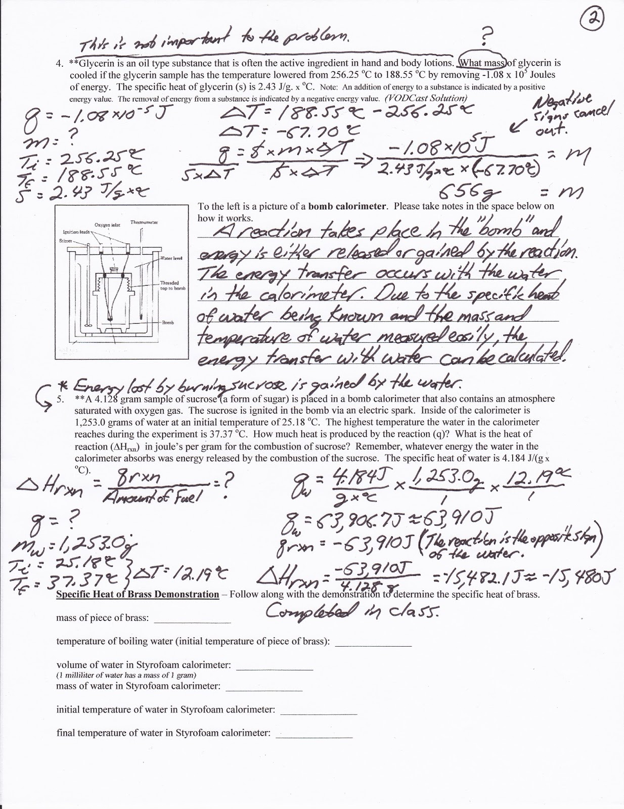 worksheet Calorimetry Worksheet 1 Answers calorimetry worksheet key adriaticatoursrl mr brueckner 2017 2018 chemistry blog october practice 1