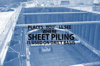 3 Places You'll See Sheet Piling Used On A Daily Basis