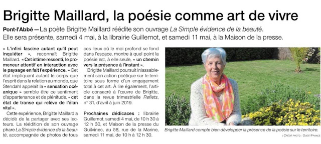 Brigitte Maillard auteur poésie