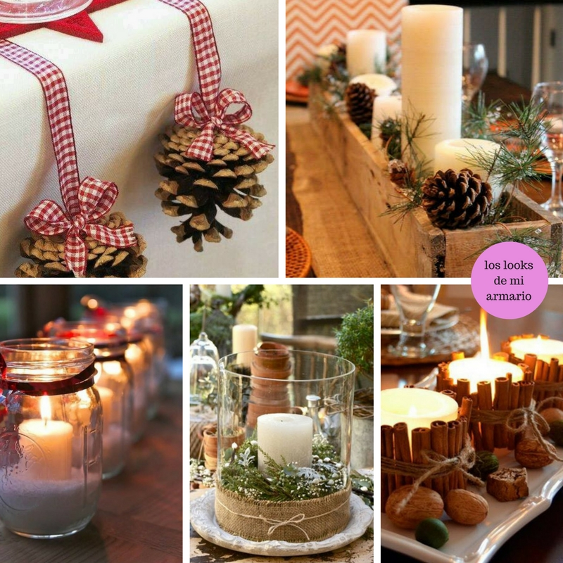 Mesa de navidad decoracion los looks de mi armario for Ideas mesa navidad