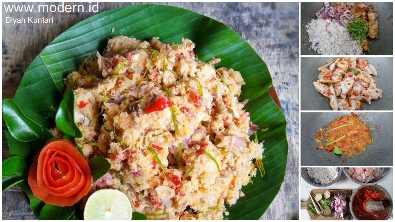 Resep Lawar Ayam Khas Indonesia Enak Rasanya Seger Banget Modern Id