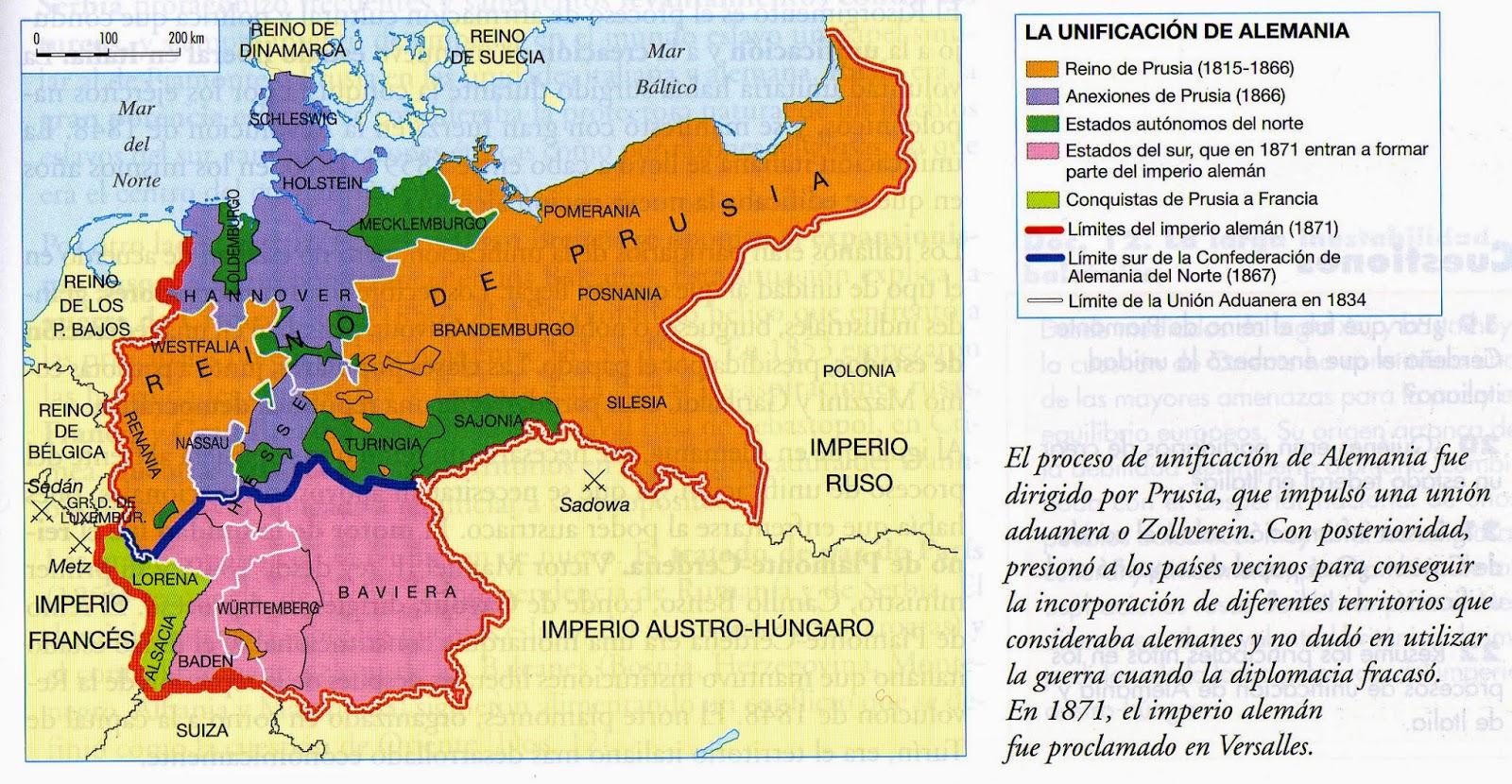 II Reich Alemán: Proceso de Unificación de Alemania
