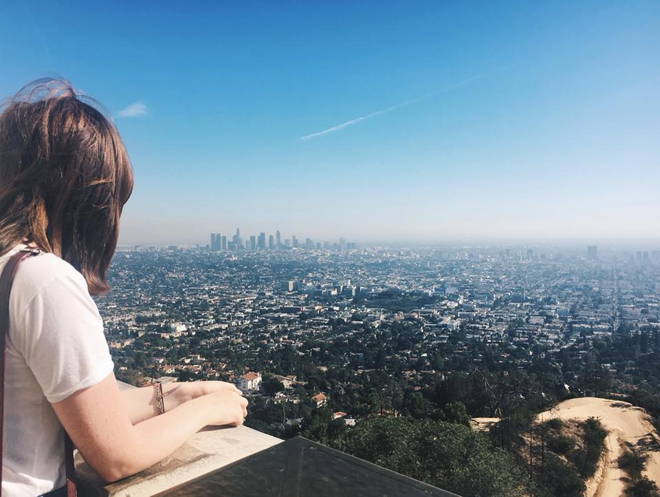 travel blogger photo of view from Griffith observatory towards Downtown LA