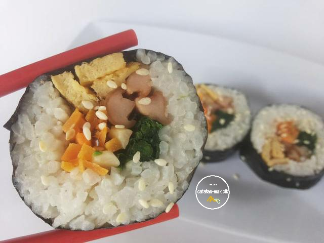 Korean Food: Kimbab - nasi gulung ala Korea
