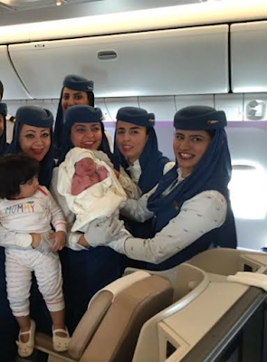 Woman gives birth on board Saudi airline forcing the New York bound flight to land in London
