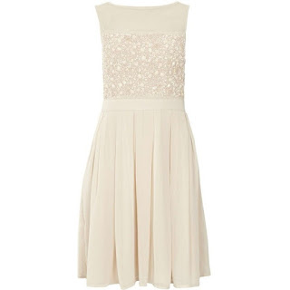 Wedding guest dress | Blush Beaded Prom Dress from Dorothy Perkins