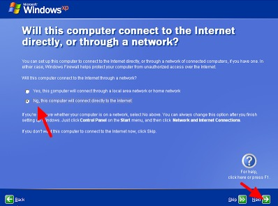 setting internet pada windows xp di komputer