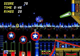 sonic casino zone