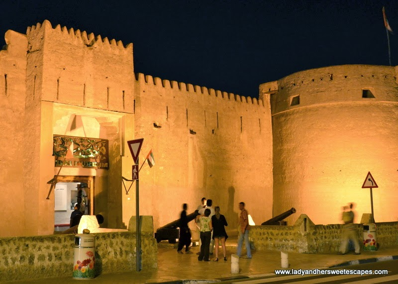 Dubai Museum at night