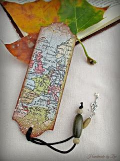idee marturie botez semn de carte din harta veche