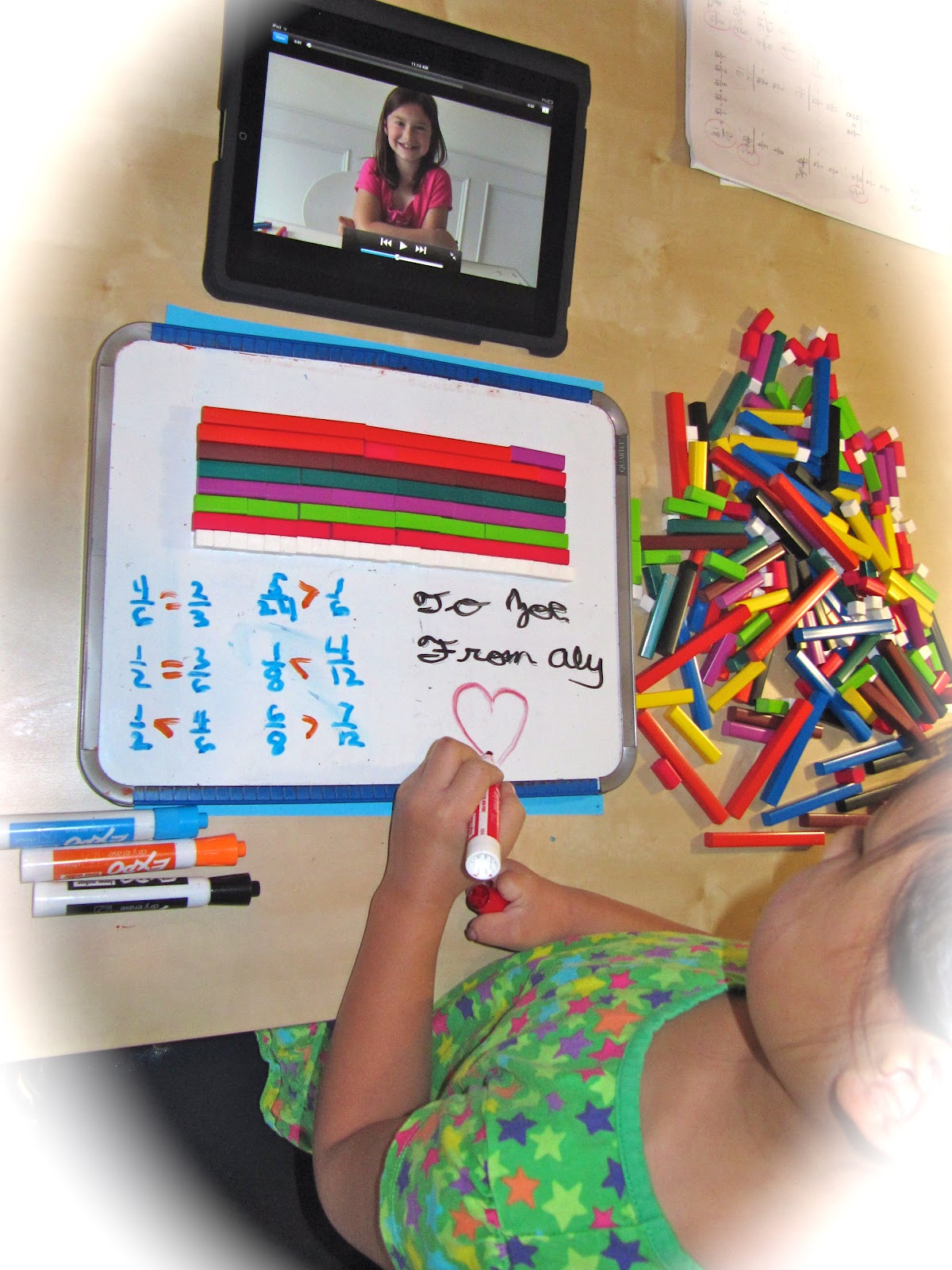 Homeschool Ninjas Teach Fractions With Cuisenaire Rods