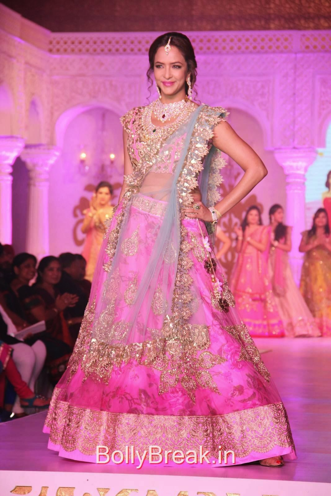 Manchu Lakshmi Photos At Princess on the Ramp Event, Manchu Lakshmi Pics in Bridal Lehenga Choli