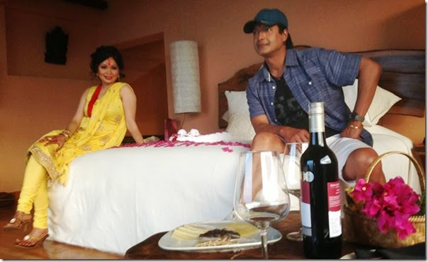 Hare Some Photos Of The Bed The Newly Married Couple Rajesh Hamal And Madhu Bhattarai Are Sharing On The Wedding Night Video Of The Couple After