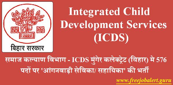 Social Welfare Department, BIhar, ICDS, Integrated Child Development Services, ICDS Bihar, 10th, Anganwadi Sahayika, Anganwadi, Anganwadi Sevika, Latest Jobs, Anganwadi Recruitement, icds bihar logo