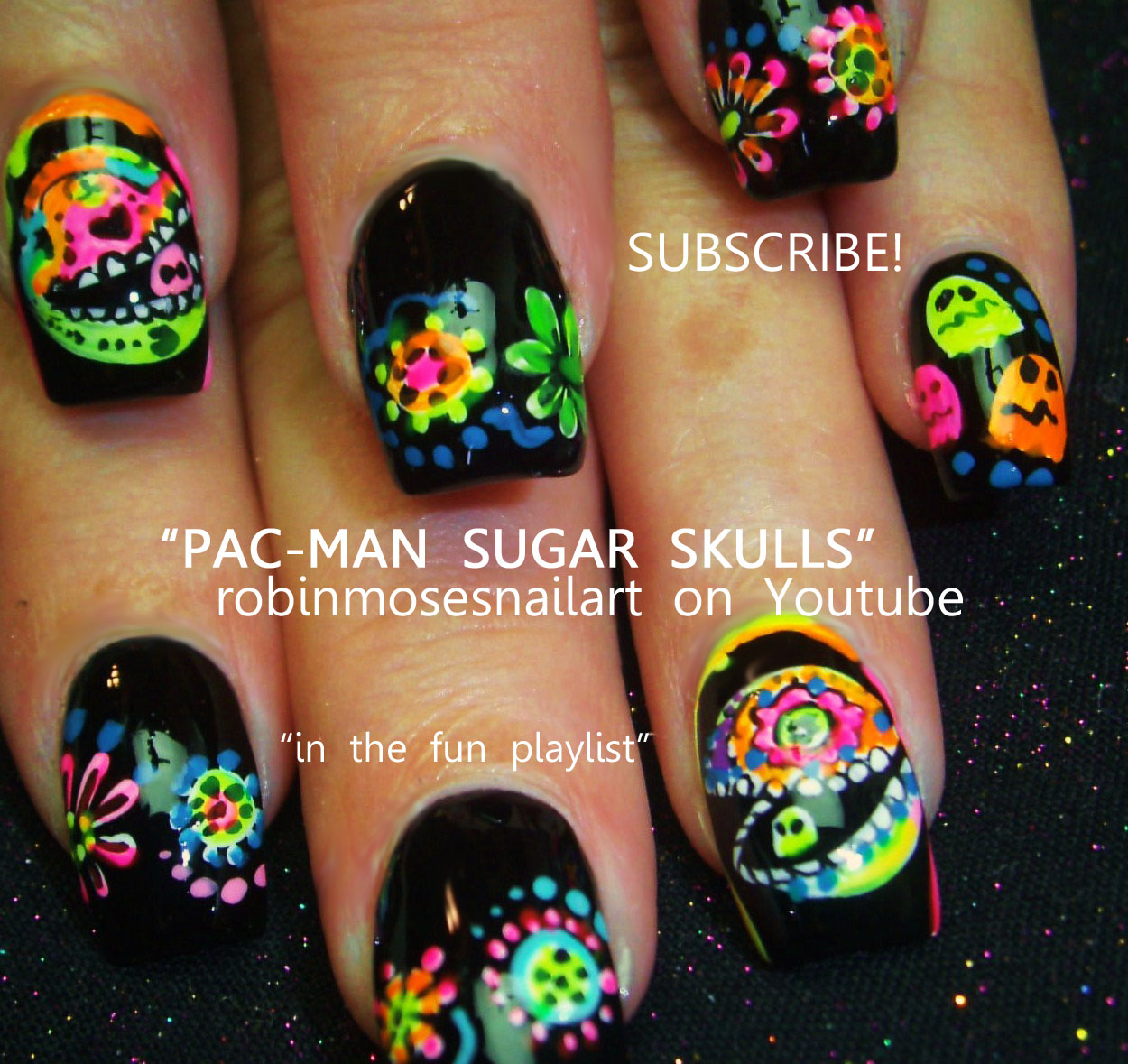 Nail Art By Robin Moses Pac Man Nails Nail Art Indian Wedding