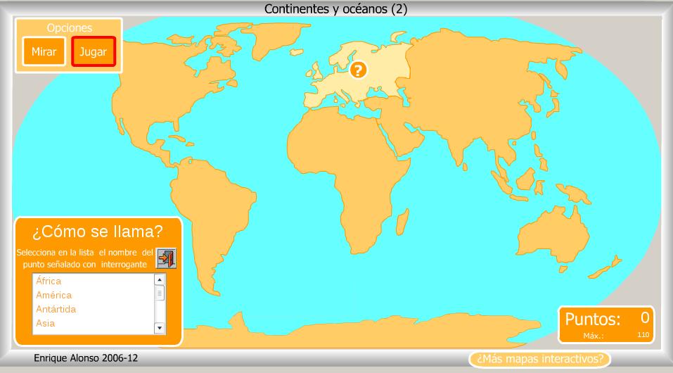 Mapa Para Jugar Dónde Está Continentes Y Océanos: Mapa Con Los Continentes Y Oceanos Josanprimariaef Mapas