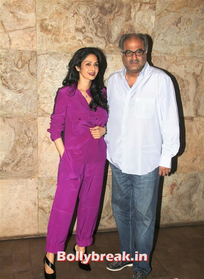 Sridevi and Boney Kapoor, Ram Leela Premiere Photos