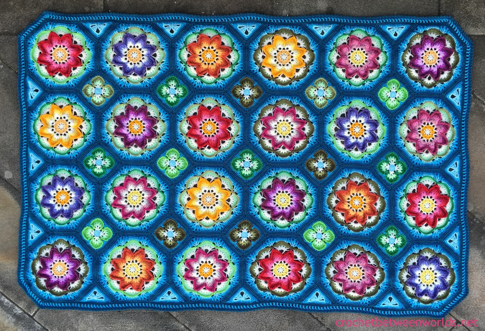 Crochet Between Worlds Ta Dah The Lotus Moon Tiles Afghan