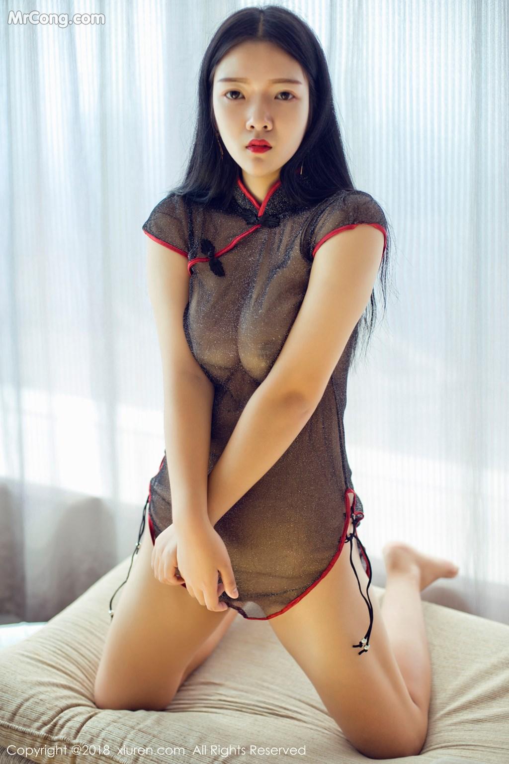 Image XIUREN-No.1008-Ling-Xi-Er-MrCong.com-010 in post XIUREN No.1008: Người mẫu Ling Xi Er (凌希儿) (44 ảnh)