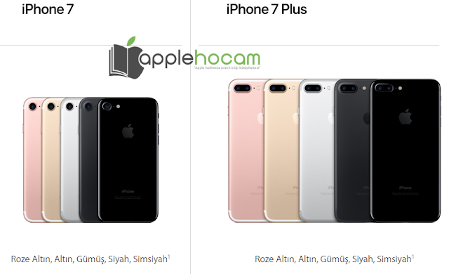 iPhone 7 Renk Seçenekleri