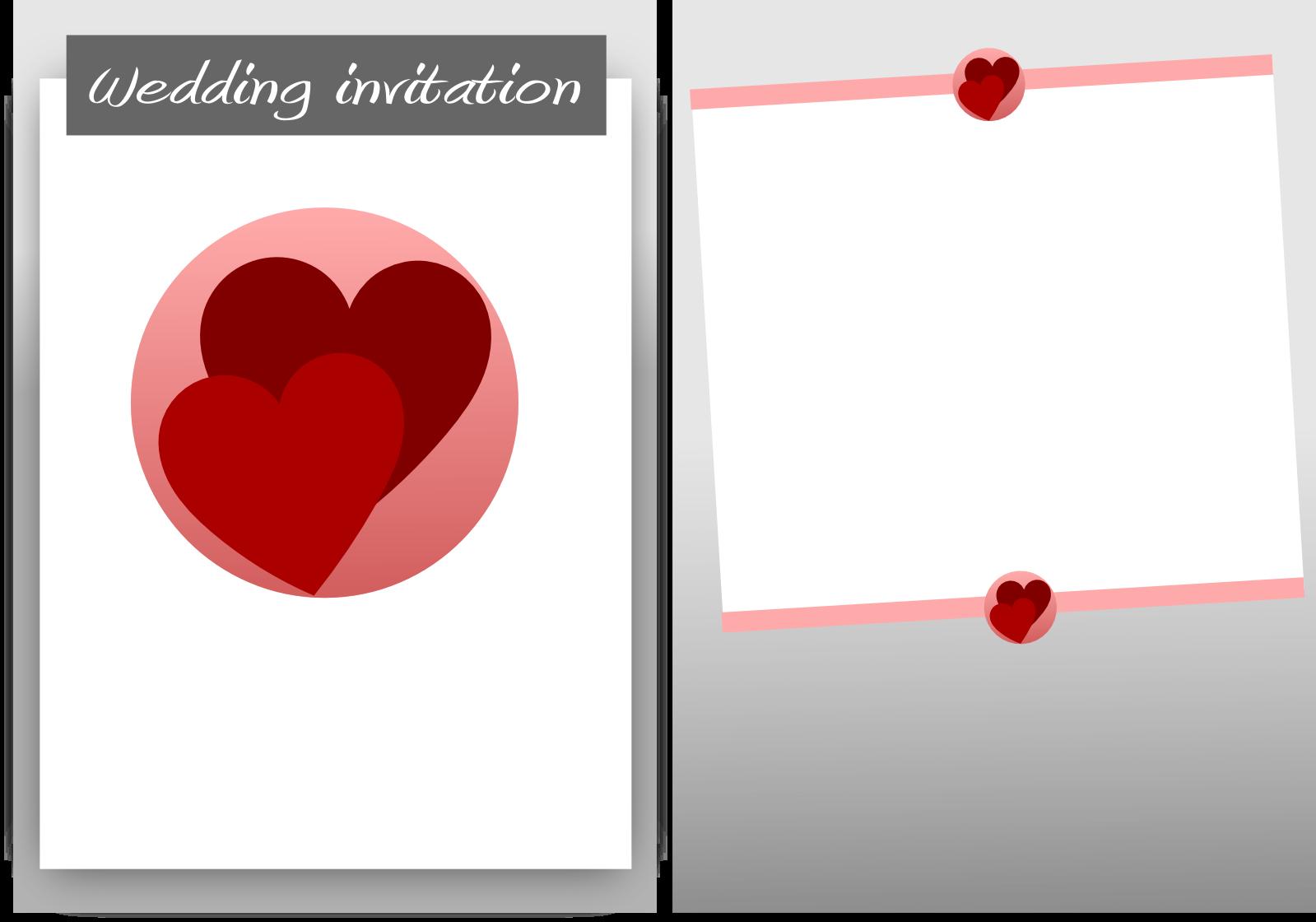 Blank wedding card design png file