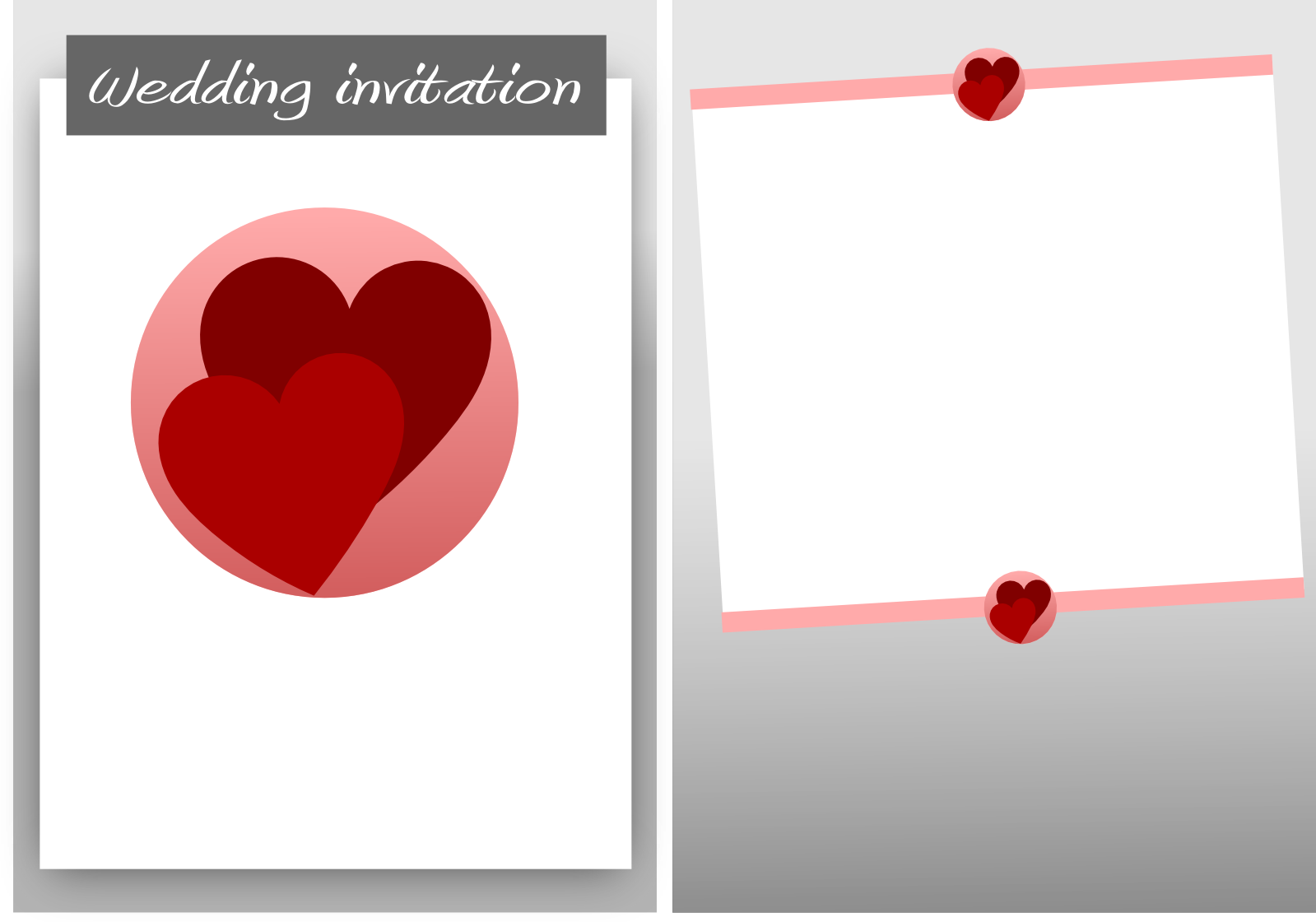 Blank wedding card design png file