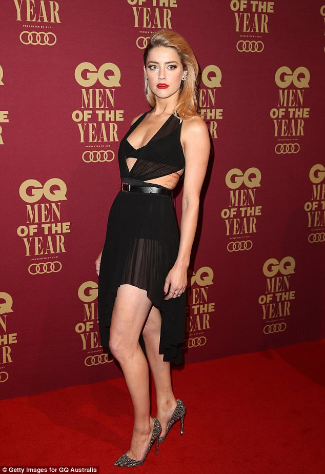 Amber Heard dazzles in sheer dress at the GQ Australia Men of the Year Awards