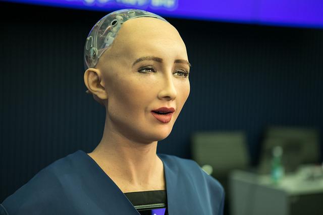 La humanoide fue desarrollada en Hong Kong por Hanson Robotics y activada en abril de 2015