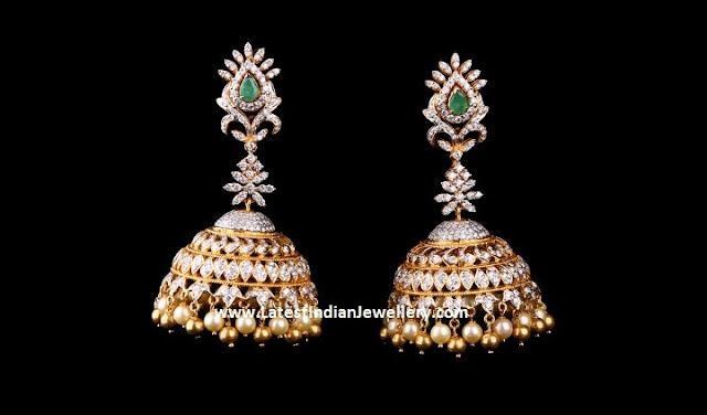 Scintillating Diamond Jhumkas