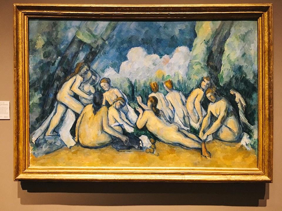 水浴する人々(大水浴図)Bathers (Les Grandes Baigneuses)1894〜1905年頃