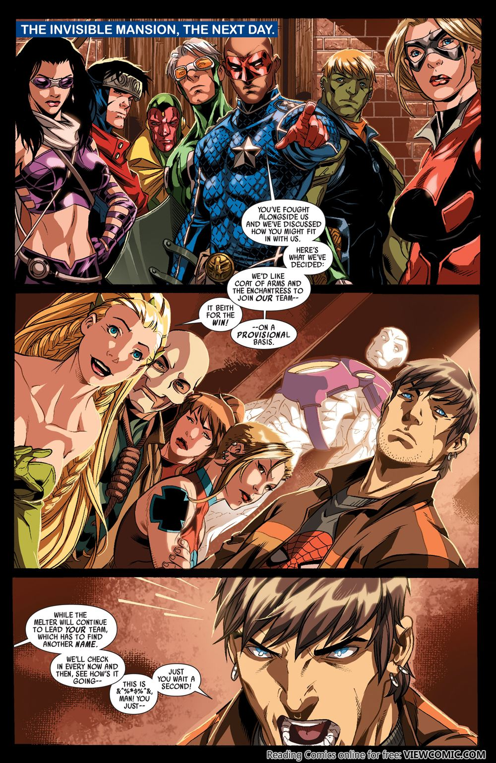Dark Reign Young Avengers #4 VF 2009 Stock Image