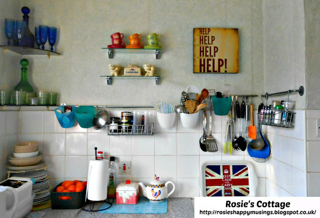 Before Photo - Our Kitchen Wall Near Cooker After Our Recent Makeover