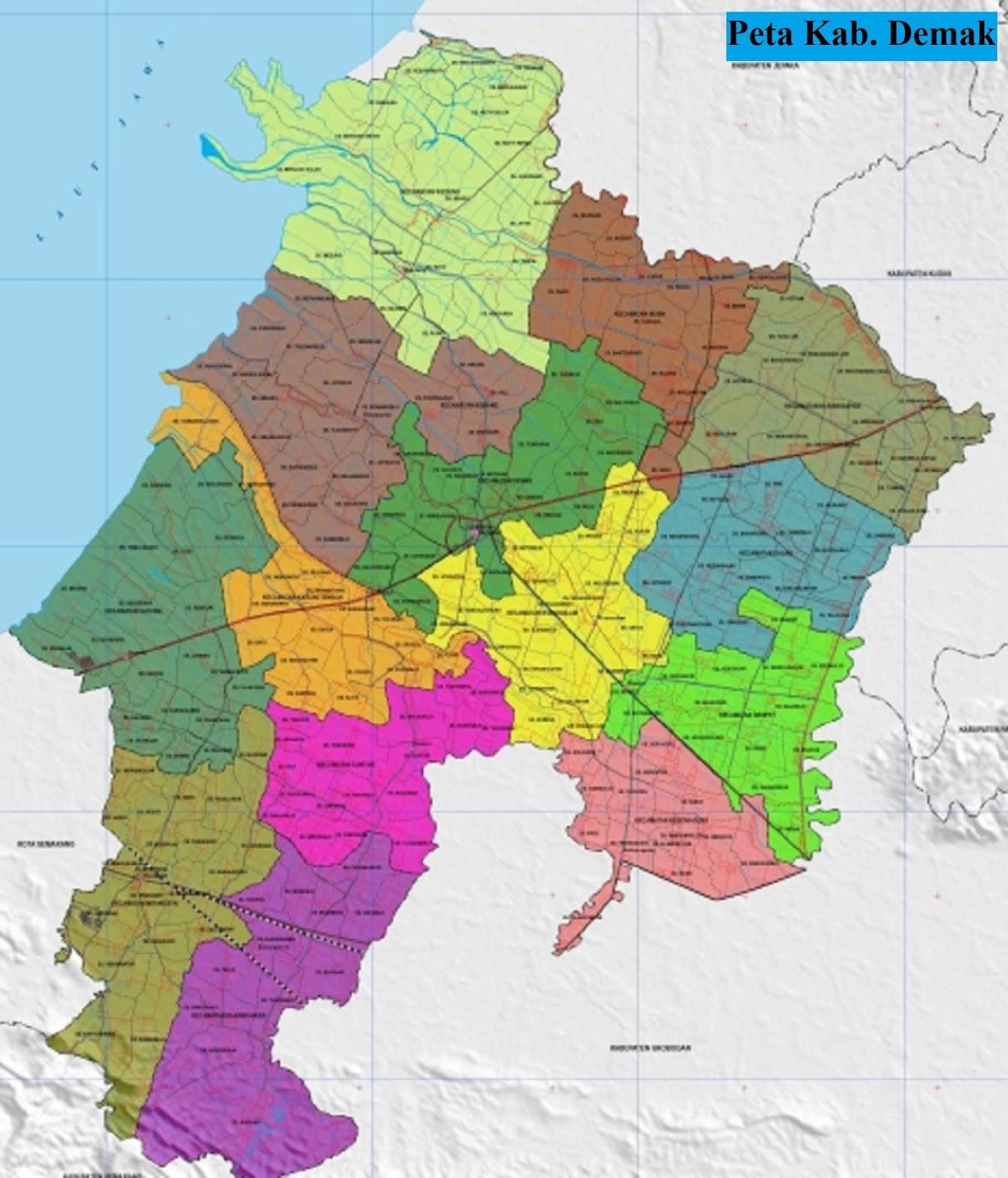 Peta Kecamatan di Kabupaten Demak