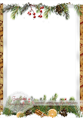 ~~ Christmas snowy frame