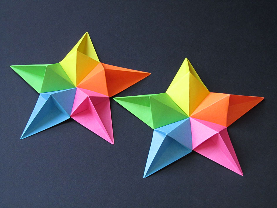 Origami Stella diamante e variante - Diamond star and variant by Francesco Guarnieri