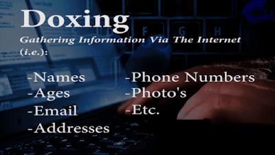 Doxing Gathering information via intermet