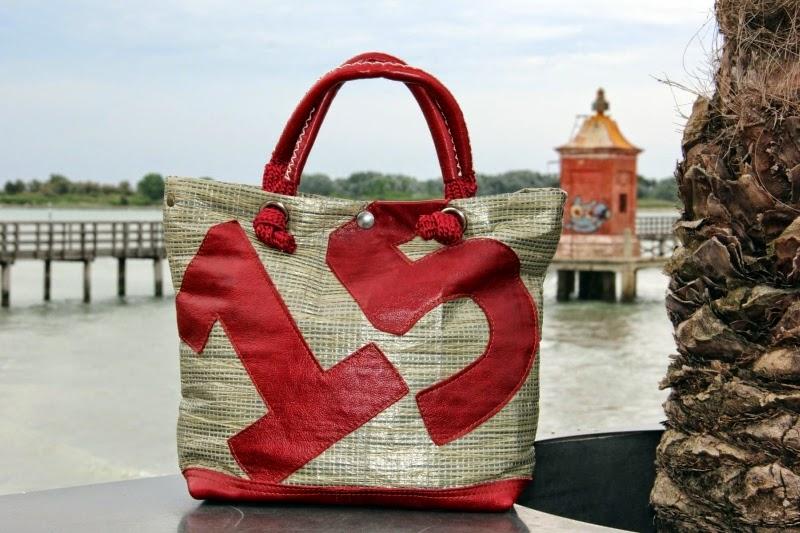bolina sail la borsa artigianale realizzata con tela velica